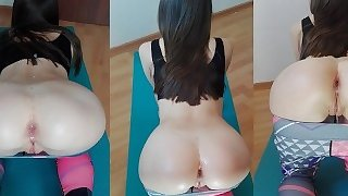 REAL AMATEUR IS FUCKED AFTER YOGA CLASS IN YOGA PANTS (CUMSHOT ON ASS)